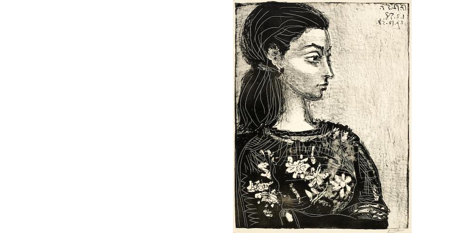 Pablo Picasso (1881-1973); Femme au Corsage à Fleurs;
