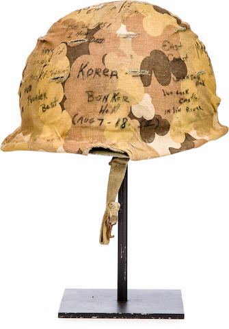 Bonhams : KOREAN WAR: SIGNED US MARINE HELMET, 1950-1953 11
