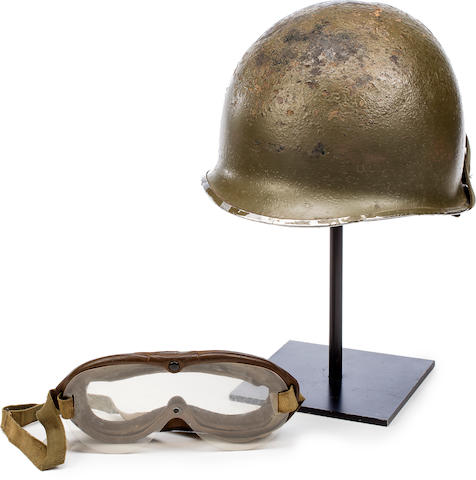 "US ""GHOST ARMY"": HELMET AND GOGGLES, 1944 Various sizes"