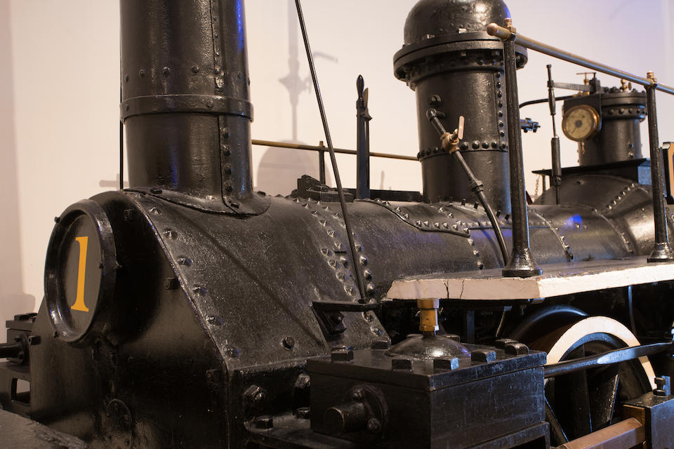 "<i>Used under both Union and Confederate forces during the Civil War and believed to be the oldest Southern locomotive in existence</i><BR /><B>c.1835  Brathwaite and Ericson ""Mississippi"" Locomotive</B>"