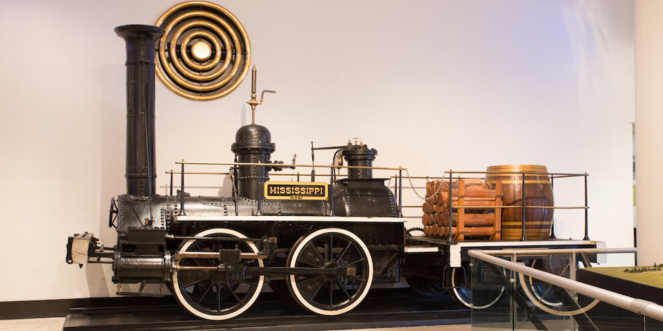 """<i>Used under both Union and Confederate forces during the Civil War and believed to be the oldest Southern locomotive in existence</i><BR /><B>c.1835  Brathwaite and Ericson """"Mississippi"""" Locomotive</B>"""