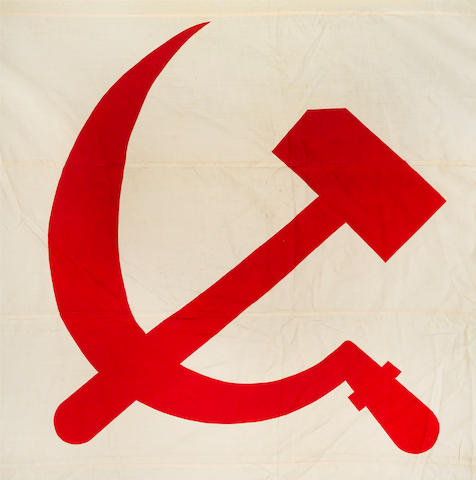 NAVAL ENSIGN OF THE SOVIET UNION, WORLD WAR II AND EARLY COLD WAR, 1935-1950 159 x 102in (404 x 259cm)