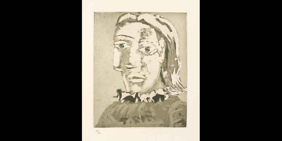 Pablo Picasso (1881-1973); Portrait de Femme au Col en ruché: Marie-Thérèse;