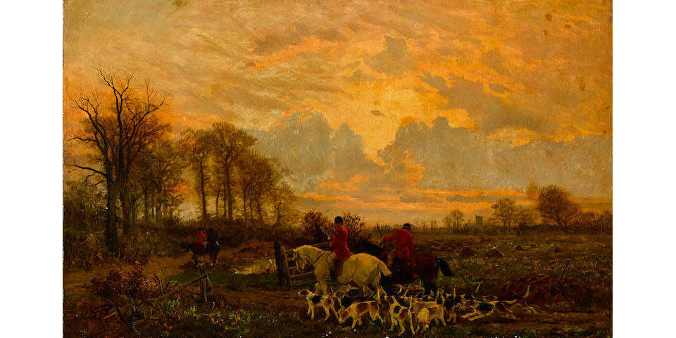 Attributed to John Sargent Noble, RBA (British, 1848-1896) On the road home 29 1/2 x 47 1/2in