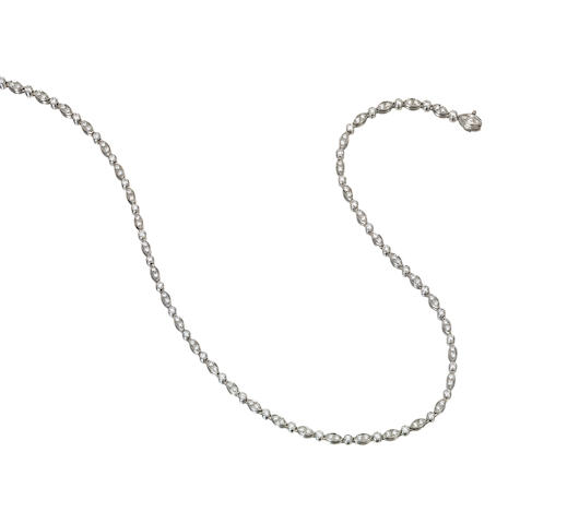 A diamond and platinum necklace, Tiffany & Co.