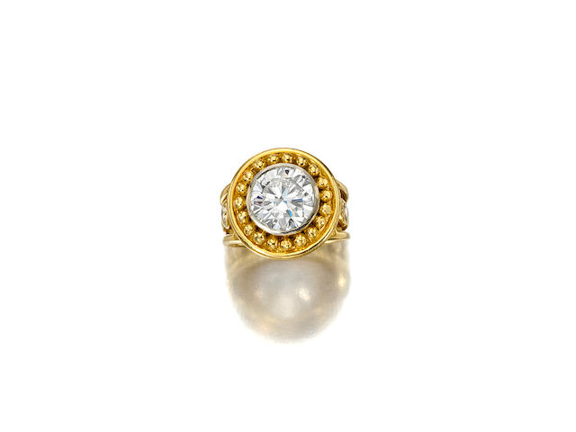 A diamond and 18k gold ring, Denise Robergé