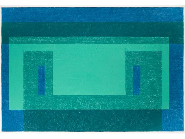 JOSEF ALBERS (1888-1976) Baryte Wall, 1960