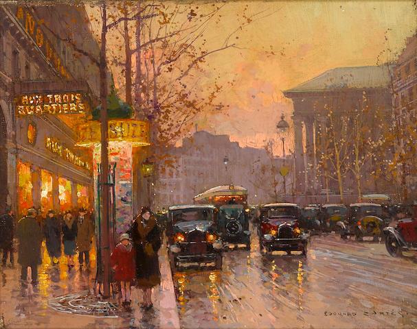Edouard Henri Leon Cortès (French, 1882-1969) Les grand boulevards 10 7/8 x 14in (27.5 x 35.5cm)