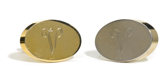 A pair of Kim Basinger cufflinks from Batman