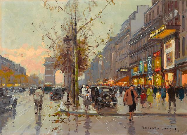 Edouard Henri Leon Cortès (French, 1882-1969) L'arc de triomphe 13 x 18in (33 x 45.7cm)
