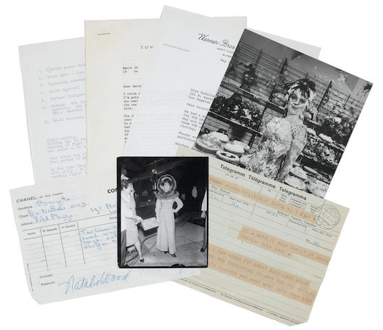A Natalie Wood bound script and archive for The Great Race