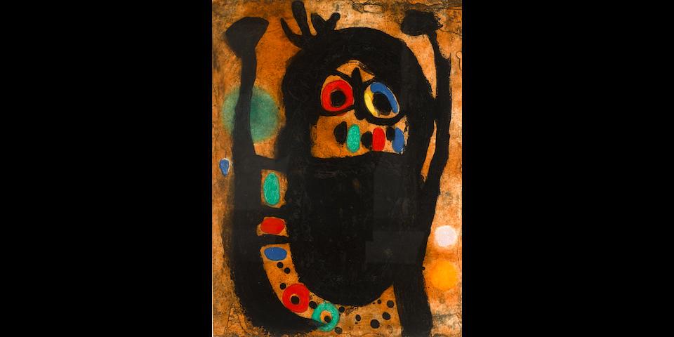 Joan Miró (1893-1983); La Femme Aux Bijoux;