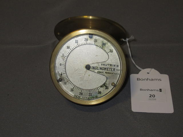 Property from the Collection of Joel Finn A tachometer drive