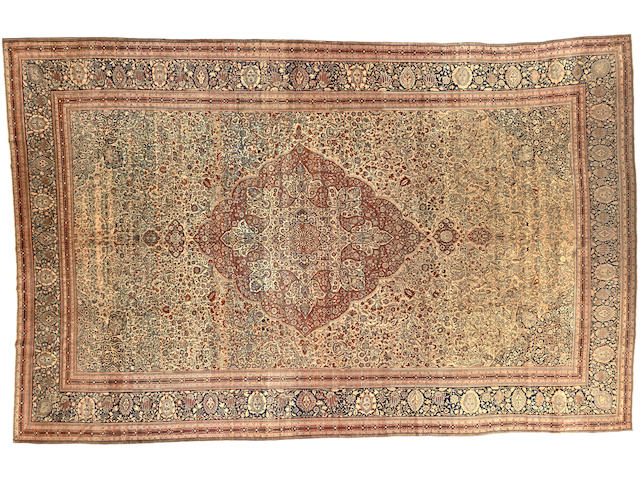 A Mohtasham Kashan carpet Central Persia size approximately 13ft. 9in. x 21ft. 6in.