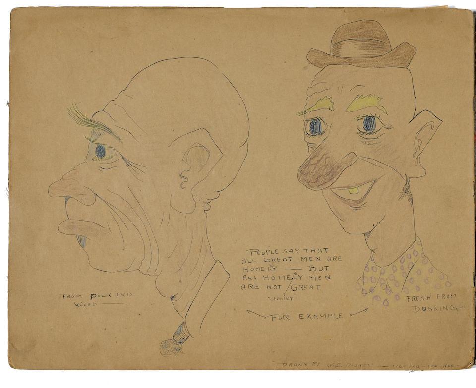 A World War I era series of drawings by young Walt Disney