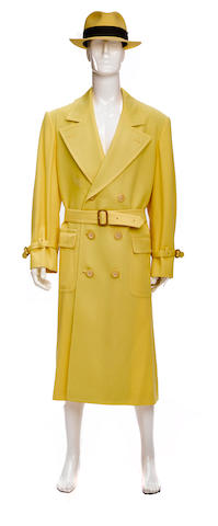 A Warren Beatty trench coat and hat from Dick Tracy