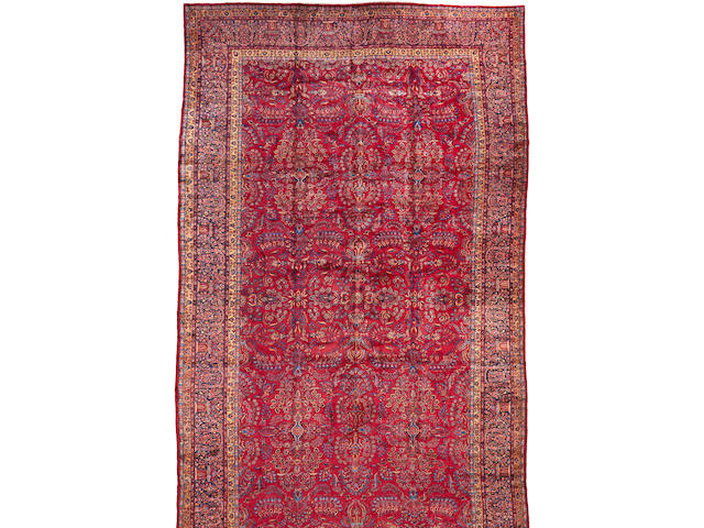 A Manchester Kashan carpet Central Persia size approximately 14ft. 6in. x 25ft. 6in.
