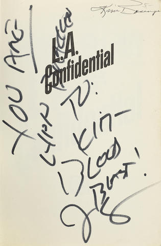 A copy of L.A. Confidential inscribed by James Ellroy to Kim Basinger