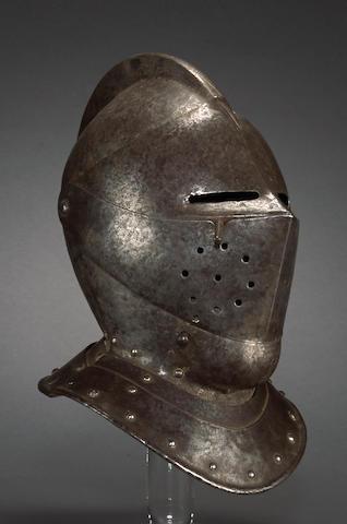 A German close helmet