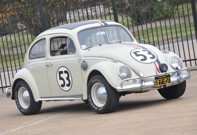 """Screen-used Herbie, the """"Invisible Driver"""" stunt car used in Disney's Herbie Goes To Monte Carlo,1963 Volkswagen Beetle  Chassis no. 5156863"""