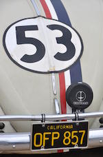 "Screen-used Herbie, the ""Invisible Driver"" stunt car used in Disney's Herbie Goes To Monte Carlo,1963 Volkswagen Beetle  Chassis no. 5156863"