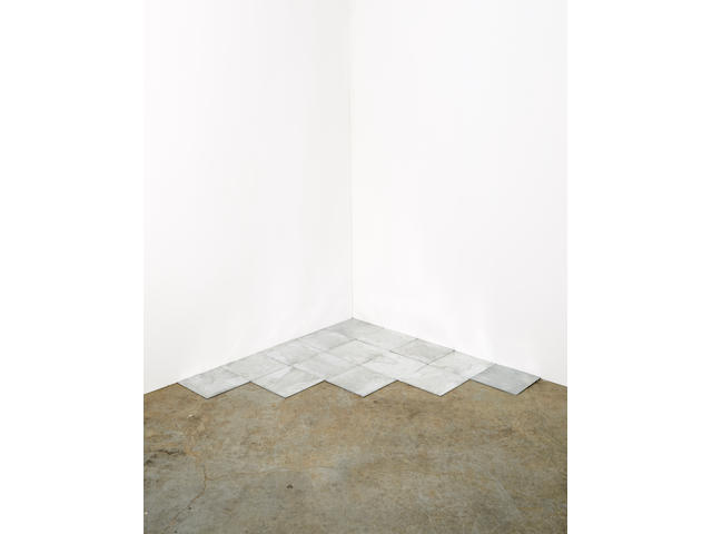 CARL ANDRE (B. 1935) 15 Ace Zinc Corner, 2007