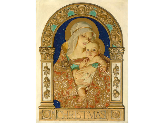 Joseph Christian Leyendecker (American, 1874-1951) Christmas  28 1/4 x 21in