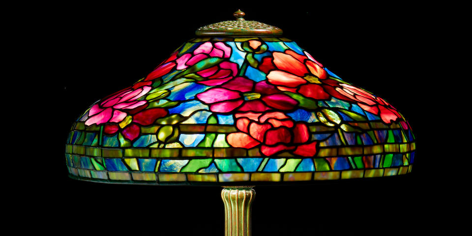 Tiffany Studios  Peony Table Lamp, circa 1910
