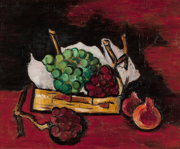 Marsden Hartley (1877-1943) Green and Purple Grapes in a Basket 20 1/4 x 24 1/8in (Painted in 1928.)
