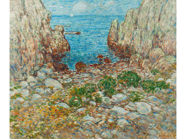 Childe Hassam (American, 1859-1935) The Cove, Isles of Shoals 25 1/4 x 30 1/4in