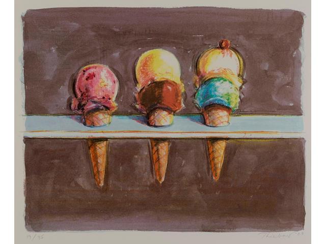 Wayne Thiebaud (born 1920); Five Flavors;
