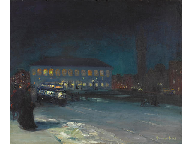 George Luks (1867-1933), Copley Square, Boston, c. 1904, oil on canvas 20 x 24in