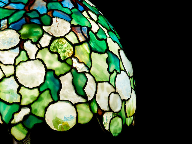 Tiffany Studios Snowball Table Lamp, circa 1905