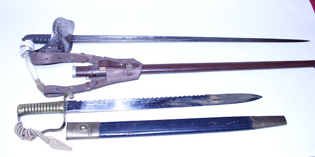 A lot of two Victorian military swords