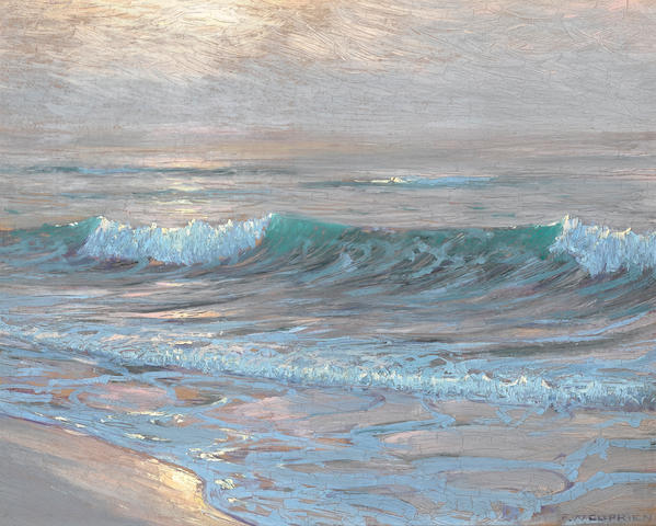 Frank Cuprien (American, 1871-1948) A summer evening, Laguna 12 x 16in (overall: 19 x 23in)