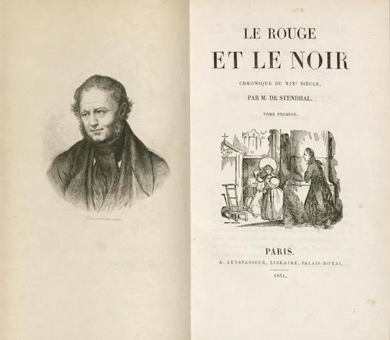STENDHAL (MARIE-HENRI BEYLE). 1783-1842. Le Rouge et le noir. Chronique du XIXe siecle. Paris: A. Levavasseur, 1831.