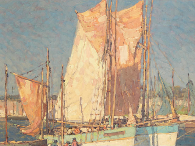 Edgar Payne (American, 1883-1947) At Concarneau, France 28 x 34in overall: 32 1/2 x 38 1/2in