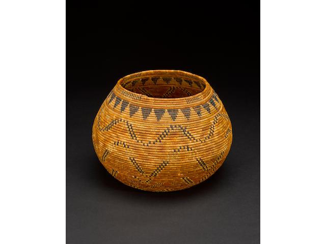 A Chumash polychrome basket
