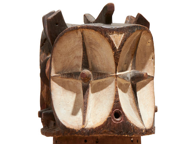 Exceptional Bembe Janus Helmet Mask, Democratic Republic of the Congo