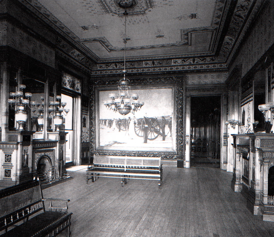 A fine and important American Aesthetic inlaid maple salon table   Commissioned for the Drawing Room of the Mark Hopkins San Francisco Residence, executed by Herter Brothers, New York 1878