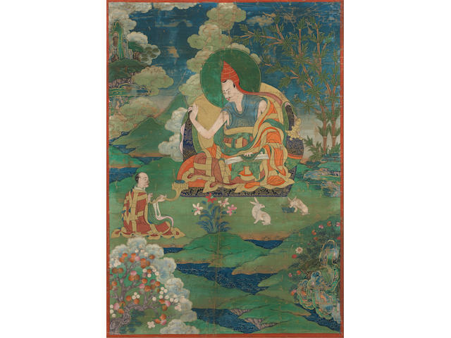A thangka of a great pandit Eastern Tibet, 19th century