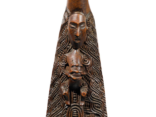 Important and Rare Maori Paddle, New Zealandby the master carver Anaha Te Rahui (1821-1913)