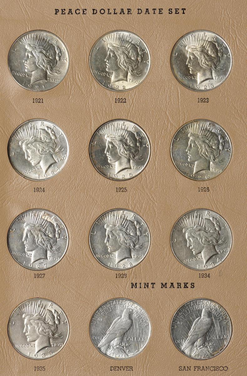 Bonhams : Dansco Silver Dollars Date Set 1878-1935