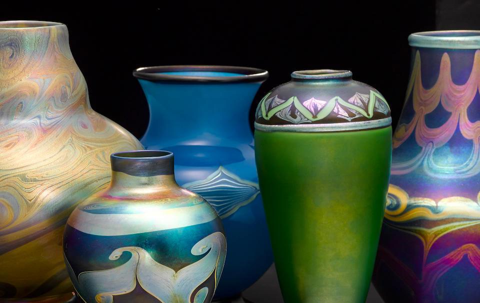 Tiffany Studios Decorated Vase, circa 1894