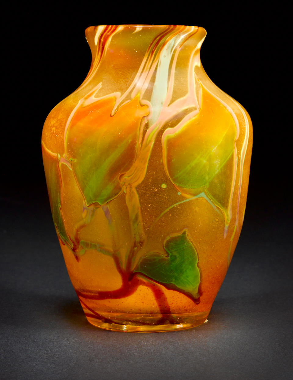 Tiffany Studios Autumn Leaf Paperweight Vase, circa 1919
