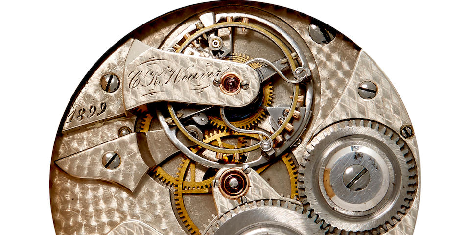 A fine hunter cased lever watch with tourbillonSigned C. K. Weaver, No. 6, dated 1899, from the Canadian Horological Institute