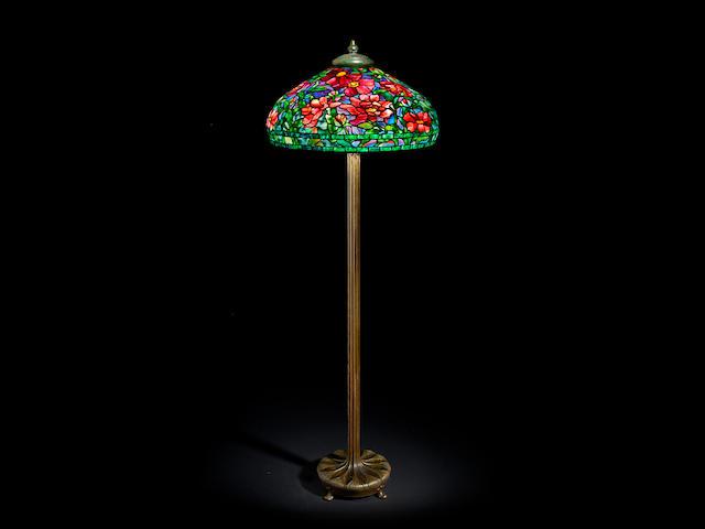 Tiffany Studios Peony Floor Lamp, circa 1910