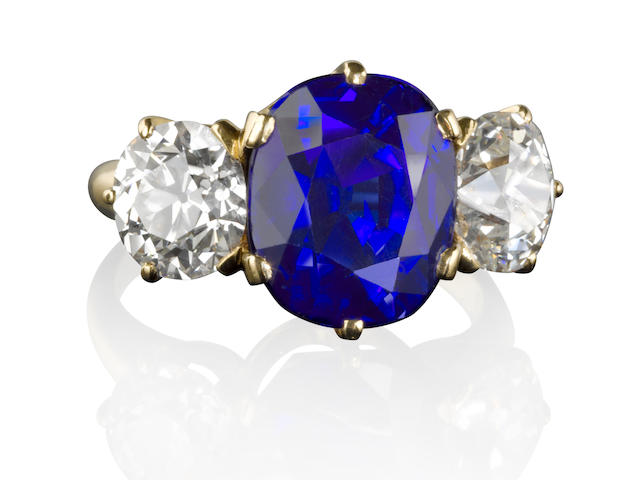 A rare sapphire and diamond ring, Tiffany & Co.