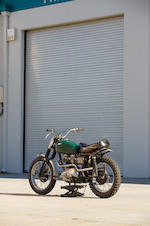 Offered From The Larry Bowman Collection, The ex-Steve Mcqueen, Bud Ekins modified, Von Dutch painted,1963 Triumph Bonneville Desert Sled  Frame no. T120 DU1683 Engine no. T120 DU1683