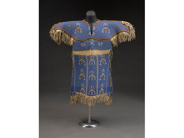 A Sioux beaded girl's dress